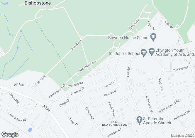Map for Eleanor Close,