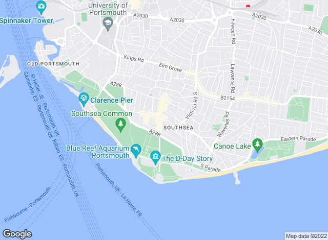 Map for Top-Let Ltd, Southsea - Lettings