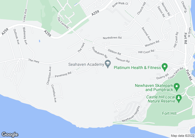 Map for 4 bedroom Detached House in Newhaven