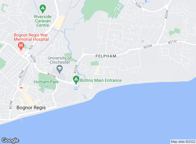 Map for Abacus Letting Services, Felpham