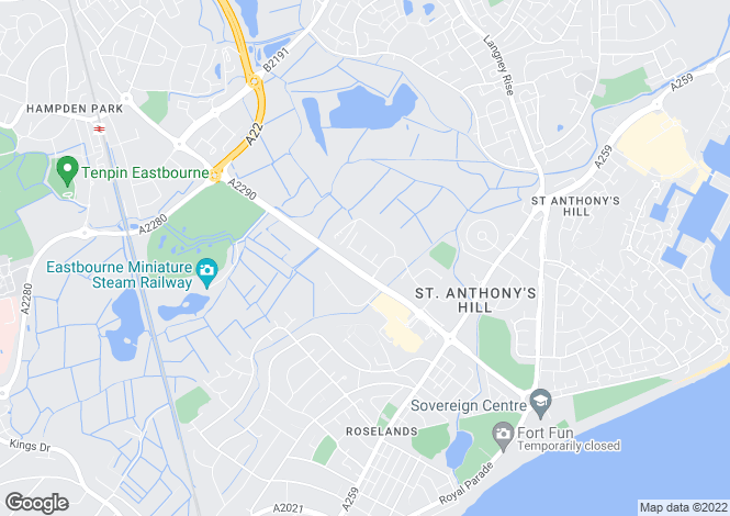 Map for Hawthorn Road, Eastbourne, East Sussex