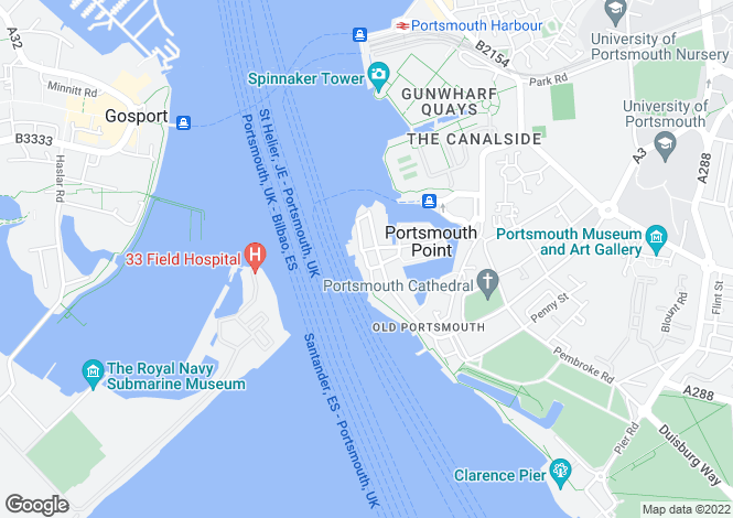 Map for Old Portsmouth, Hampshire