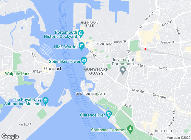 Map for Waterside Properties UK Ltd, Gunwharf Quays