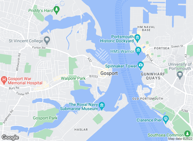 Map for Mann Countrywide, Gosport