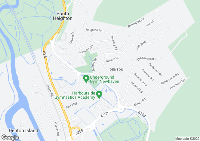 Map for Avis Close, Denton, East Sussex