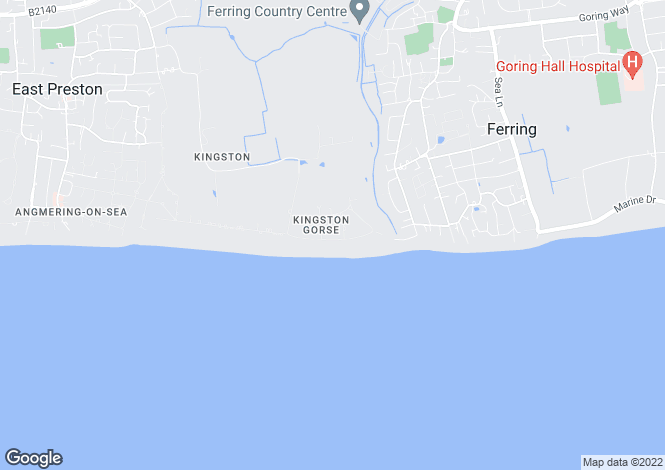 Map for Kingston Gorse, East Preston, West Sussex