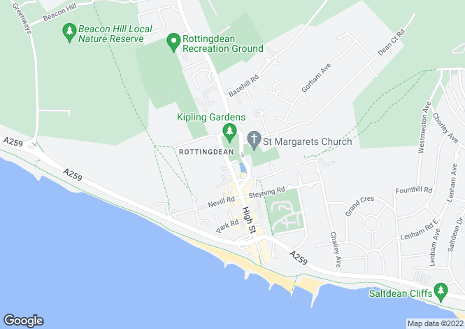 Map for The Green, Rottingdean, BRIGHTON, East Sussex