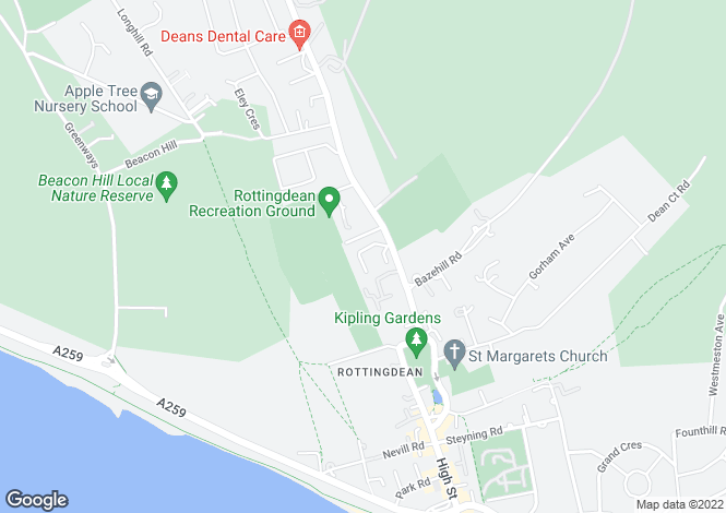Map for The Rotyngs, Rottingdean, Brighton