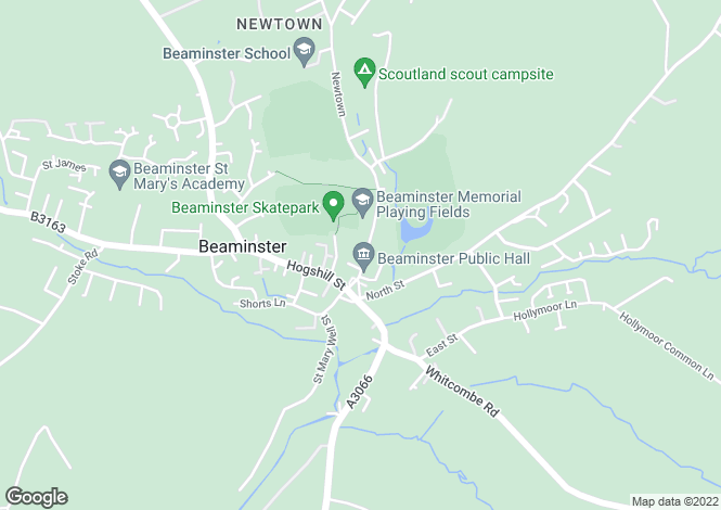 Map for Beaminster, Dorset DT8 3EF