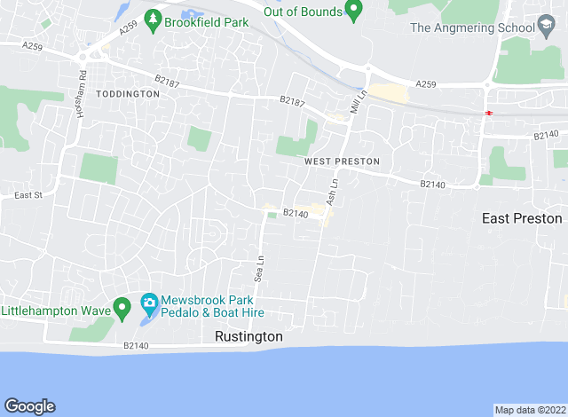 Map for Hawke & Metcalfe, Rustington