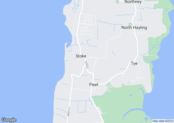 Map for Havant Road, Hayling Island, Hampshire