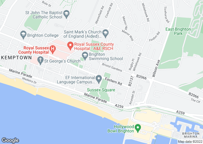 Map for Sussex Square, BRIGHTON, East Sussex