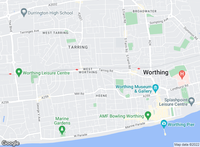 Map for Sawyers, Worthing