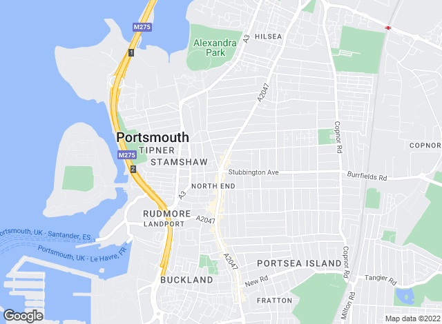 Map for Professional Tenant Finders , Portsmouth