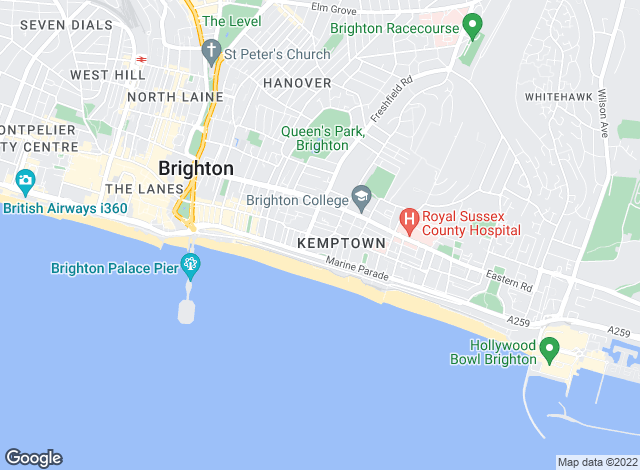 Map for Fox & Sons - Lettings, Kemp Town - Lettings