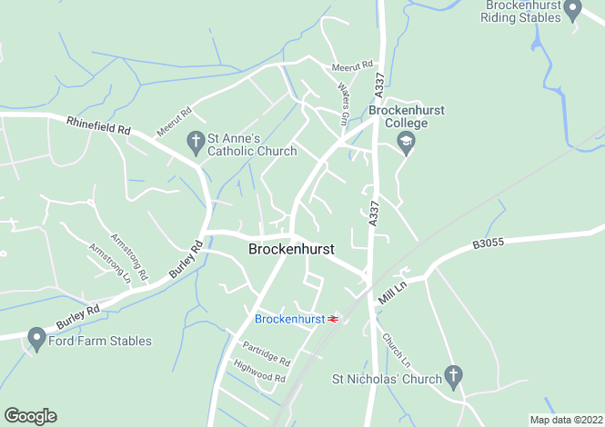 Map for Grigg Lane, BROCKENHURST
