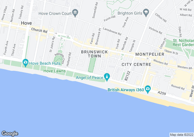 Map for Brunswick Square, Hove, East Sussex, BN3