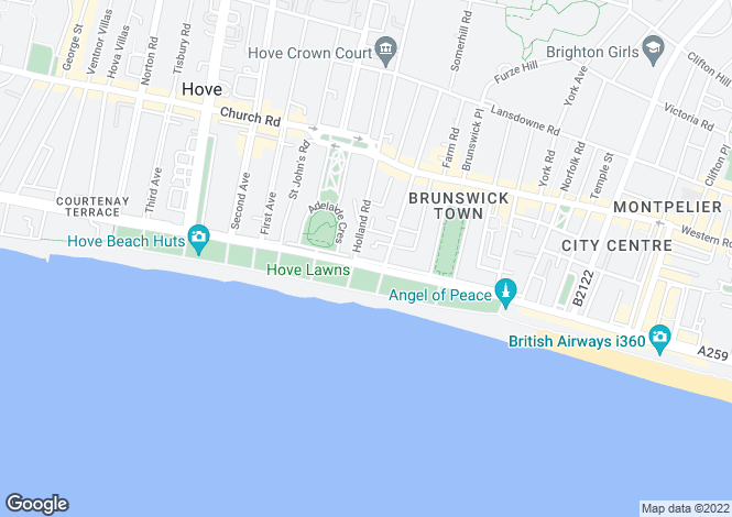 Map for Brunswick Terrace, Hove