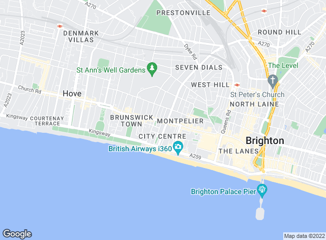 Map for Fox & Sons - Lettings, Brighton Western Road Lettings
