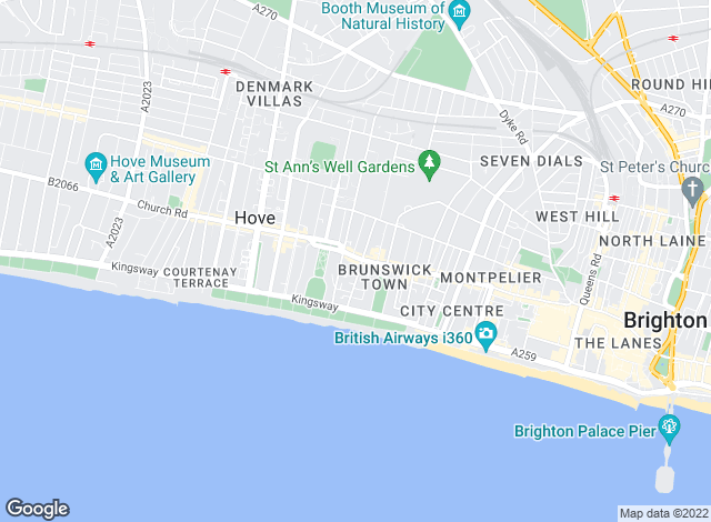 Map for Northwood (Brighton) Ltd, Brighton