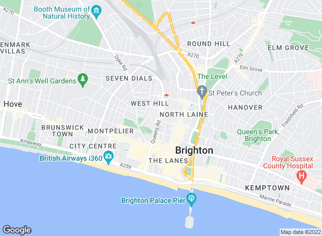 Map for Parks Residential Ltd, Brighton