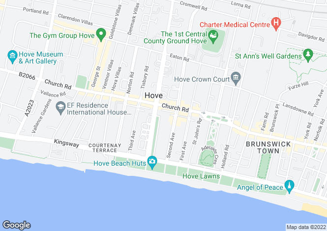 Map for Grand Avenue, Hove, East Sussex, BN3
