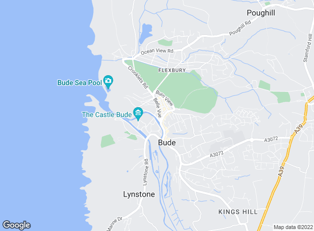 Map for Cornish Bay, Bude