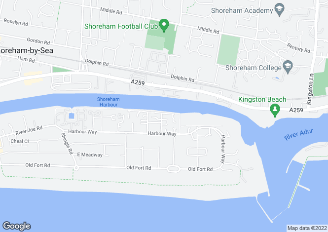 Map for Sussex Wharf, Shoreham-By-Sea