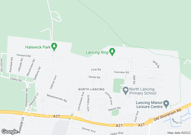 Map for Firle Road, North Lancing, West Sussex, BN15