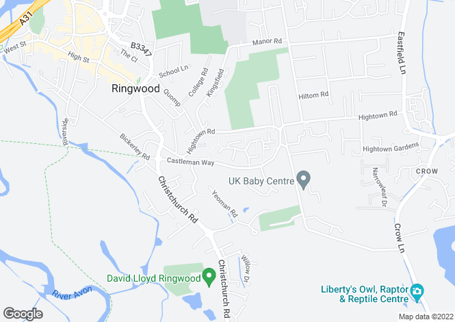 Map for Charing Close, RINGWOOD