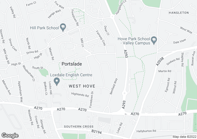 Map for Mill Lane, Portslade, East Sussex, BN41 2DE