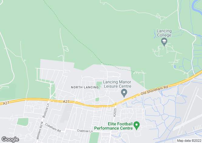 Map for Mount Way, Lancing