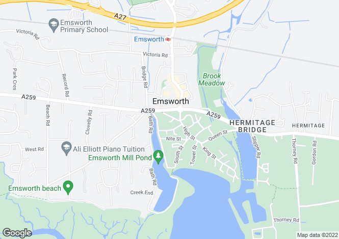 Map for West Street, , Emsworth