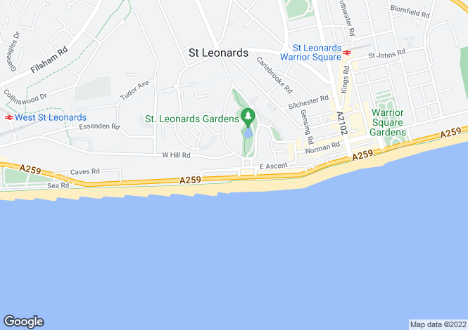 Map for West Ascent, St Leonards On Sea, TN38