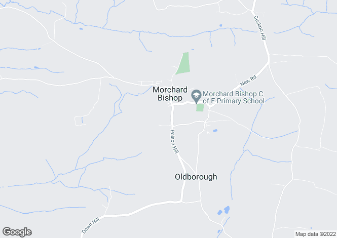 Map for Morchard Bishop, Crediton, Devon, EX17