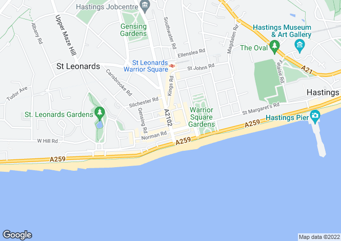 Map for London Road, St Leonards On Sea, TN37