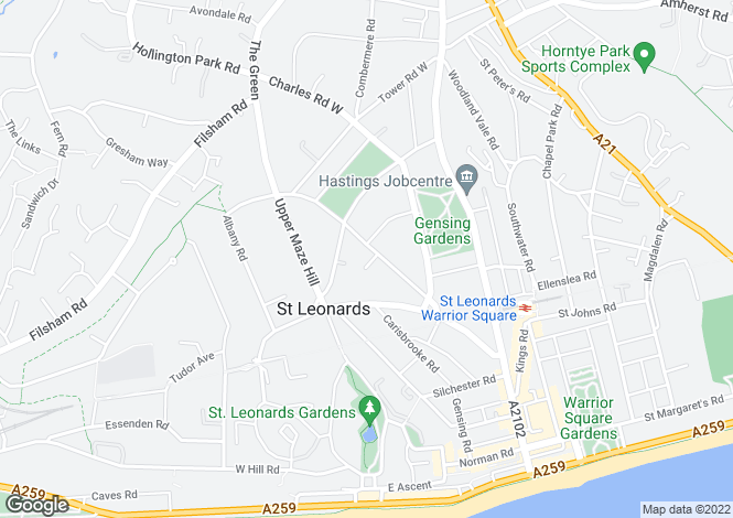 Map for Dane Road, St Leonards-On-Sea, East Sussex