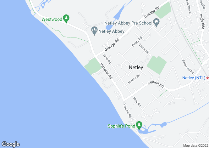 Map for Victoria Road, Netley Abbey