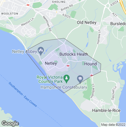 Map of property in Netley Abbey