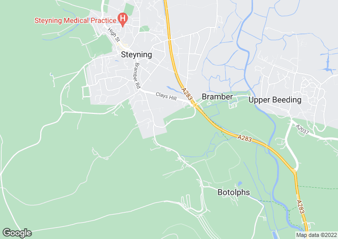 Map for Bramber, West Sussex, BN44