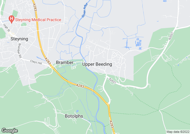 Map for Upper Beeding,