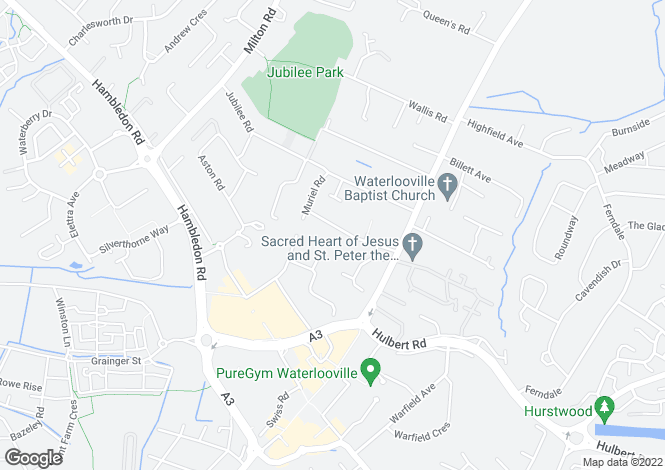 Map for Winifred Road, Waterlooville PO7