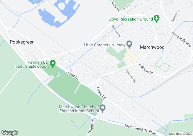Map for Marchwood, Southampton, Hampshire