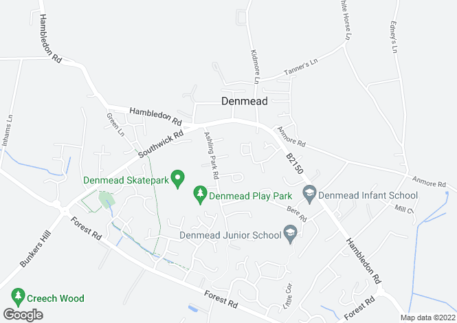 Map for Barn Green Close, Denmead