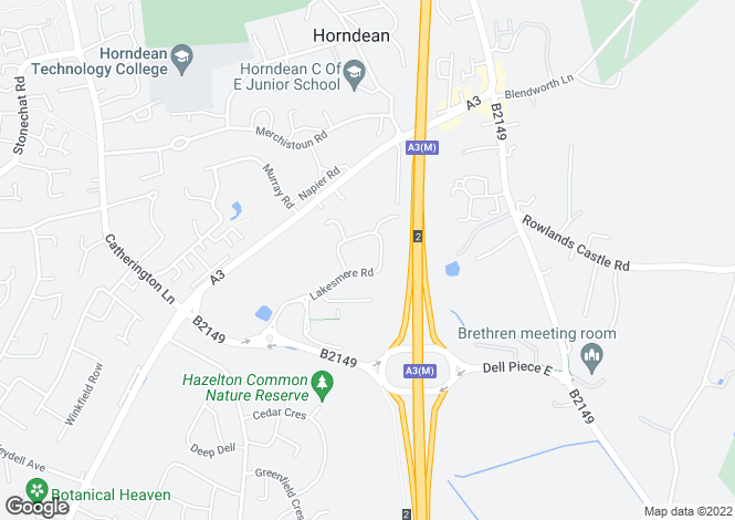 Map for Hazleton Interchange, Lakesmere Road,