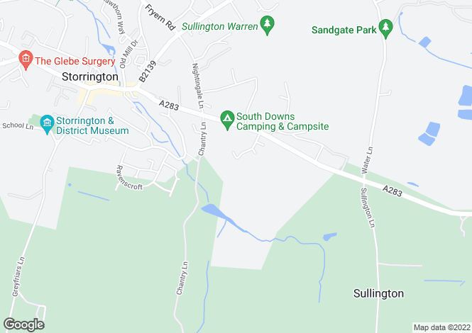 Map for Strome Park At Sussex Down, Washington Road, Storrington, RH20