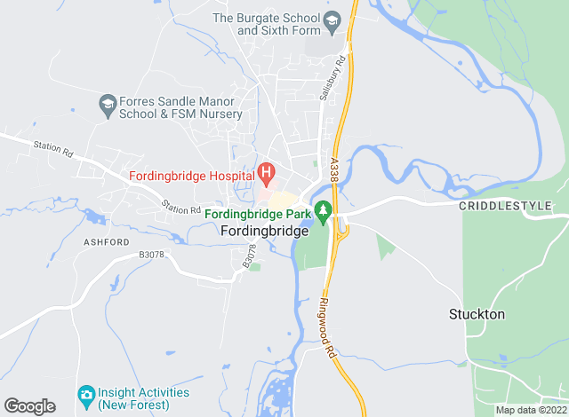 Map for Goadsby, Fordingbridge
