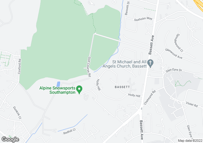 Map for Bassett, Southampton