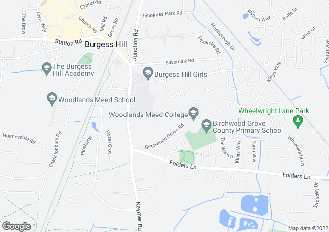 Map for THE VILLA, Ferndale Road Burgess Hill West Sussex RH15