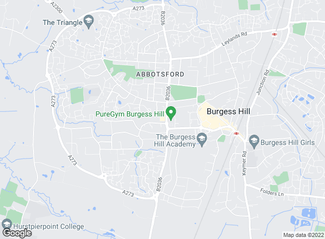 Map for Arington, Burgess Hill